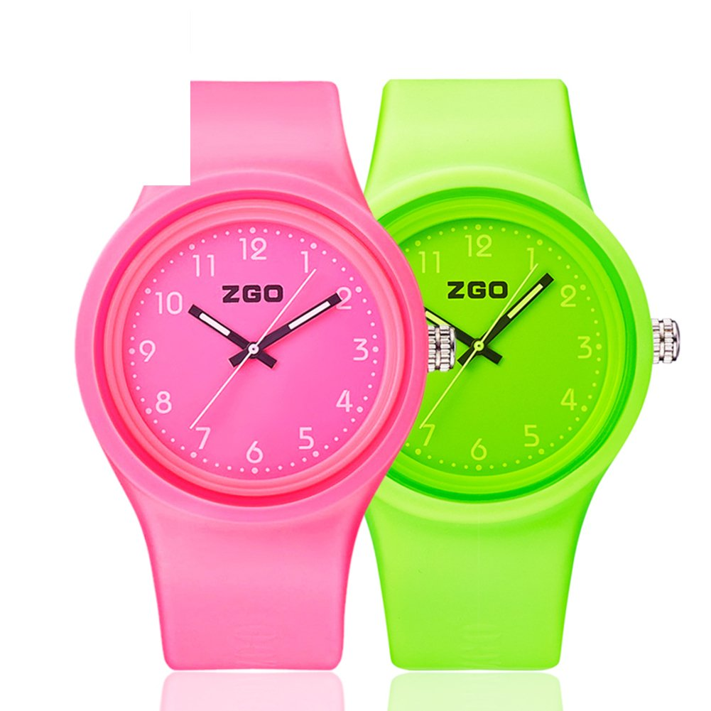 Luminous waterproof watch/Korean version of the simple matching watches-O