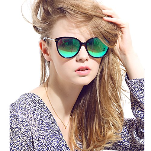 Women's Polarized Sunglasses Cat Eye Sunglasses Aviator Wayfarer - Sunglasses Lense Green