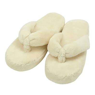 4a33d58b5a51 Home Slipper Women s Crazy Cute Fuzzy Coral Fleece Slip-On Flat Slippers  Indoor Flip Flops