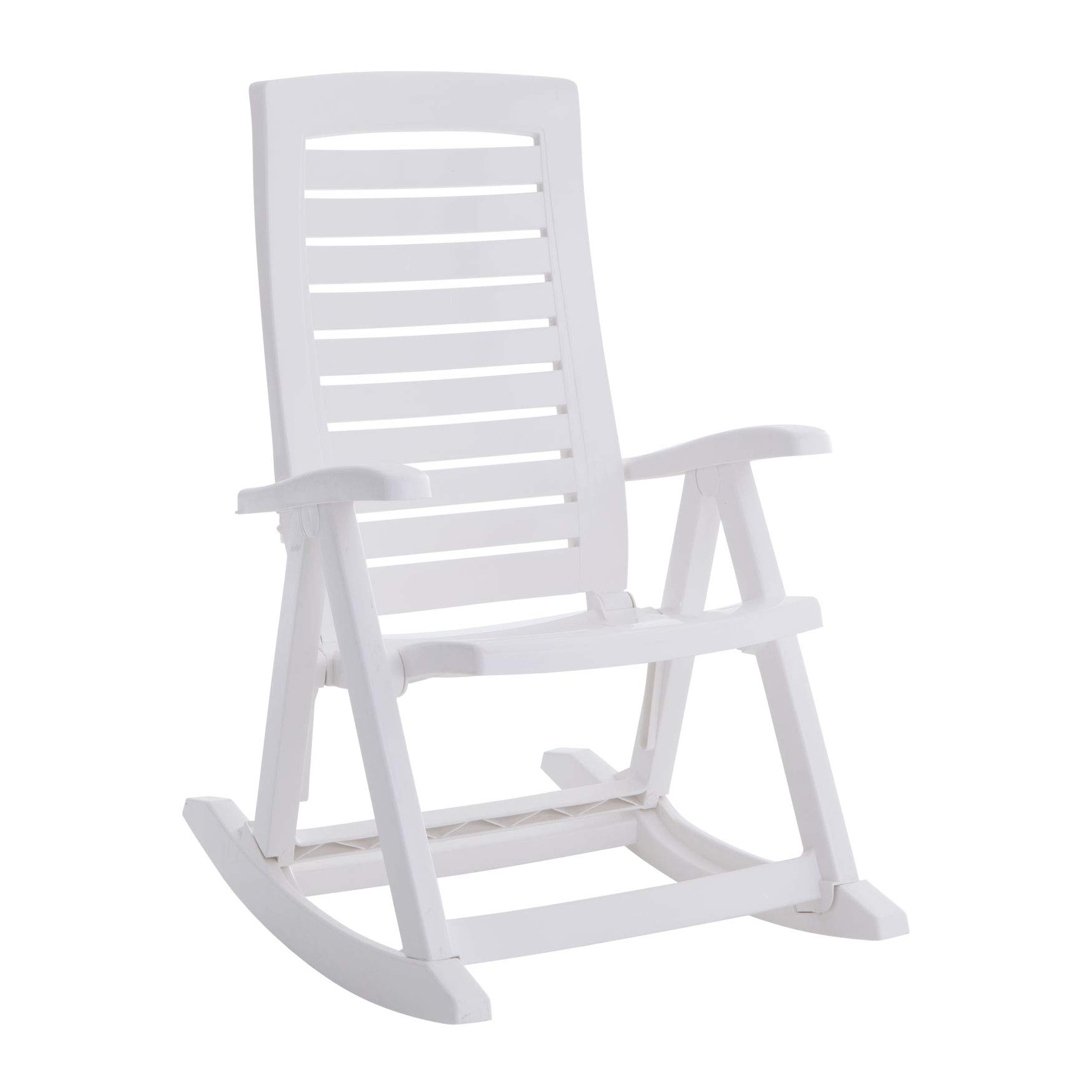BrylaneHome Foldable Rocking Chair - White by BrylaneHome