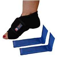 The Pain Soother Reusable Hot Foot & Cold Ice Pack Wrap for Plantar Fasciitis, Heel...