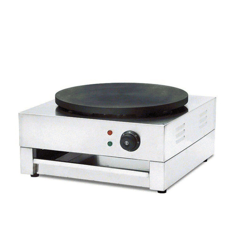 Commercial Electric Crepe Maker & Griddle, Non-stick Cooking Plate Non-stick Pancake Maker Machine 3KW Finlon