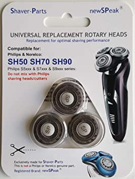 Cabezales de afeitado modelo SH50 SH70 SH90, cabezales de afeitado alternativos para la serie de afeitadoras S5000 S6000 S7000 S9000: Amazon.es: Salud y cuidado personal