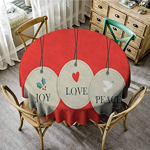 (Rank-T 100% Polyester Round Tablecloth 70