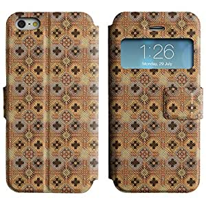LEOCASE patrón increíble Funda Carcasa Cuero Tapa Case Para Apple iPhone 5 / 5S No.1003401