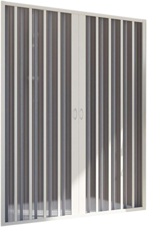 Puerta de Ducha en PVC 160CM H185 Plegable con Apertura Central Color Blanco Mod. Flex