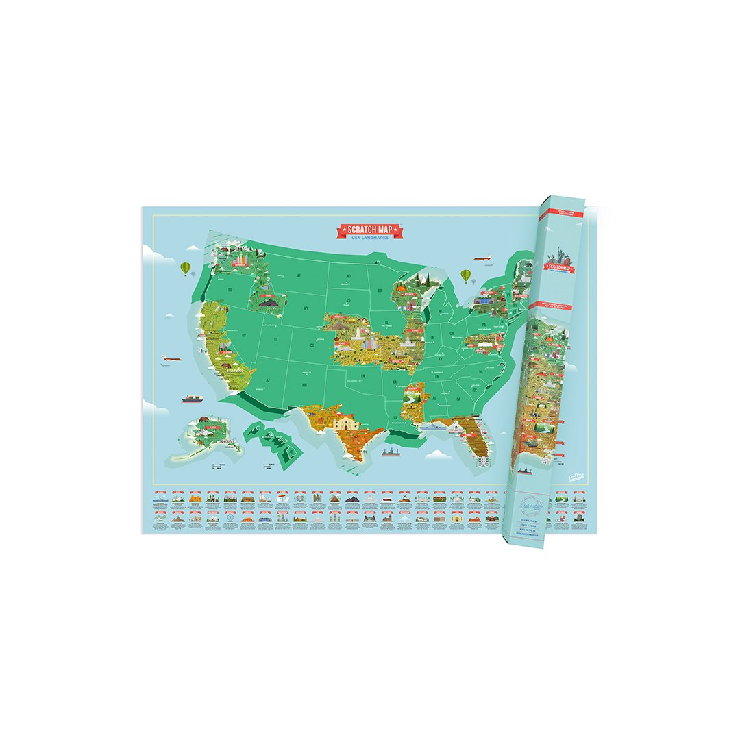 Amazon.com : Map of USA Landmarks : Office Products