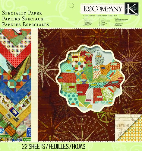 Crafting K & Company Paper (K&Company Paper Pad, Tim Coffey Travel Specialty, 12 by)