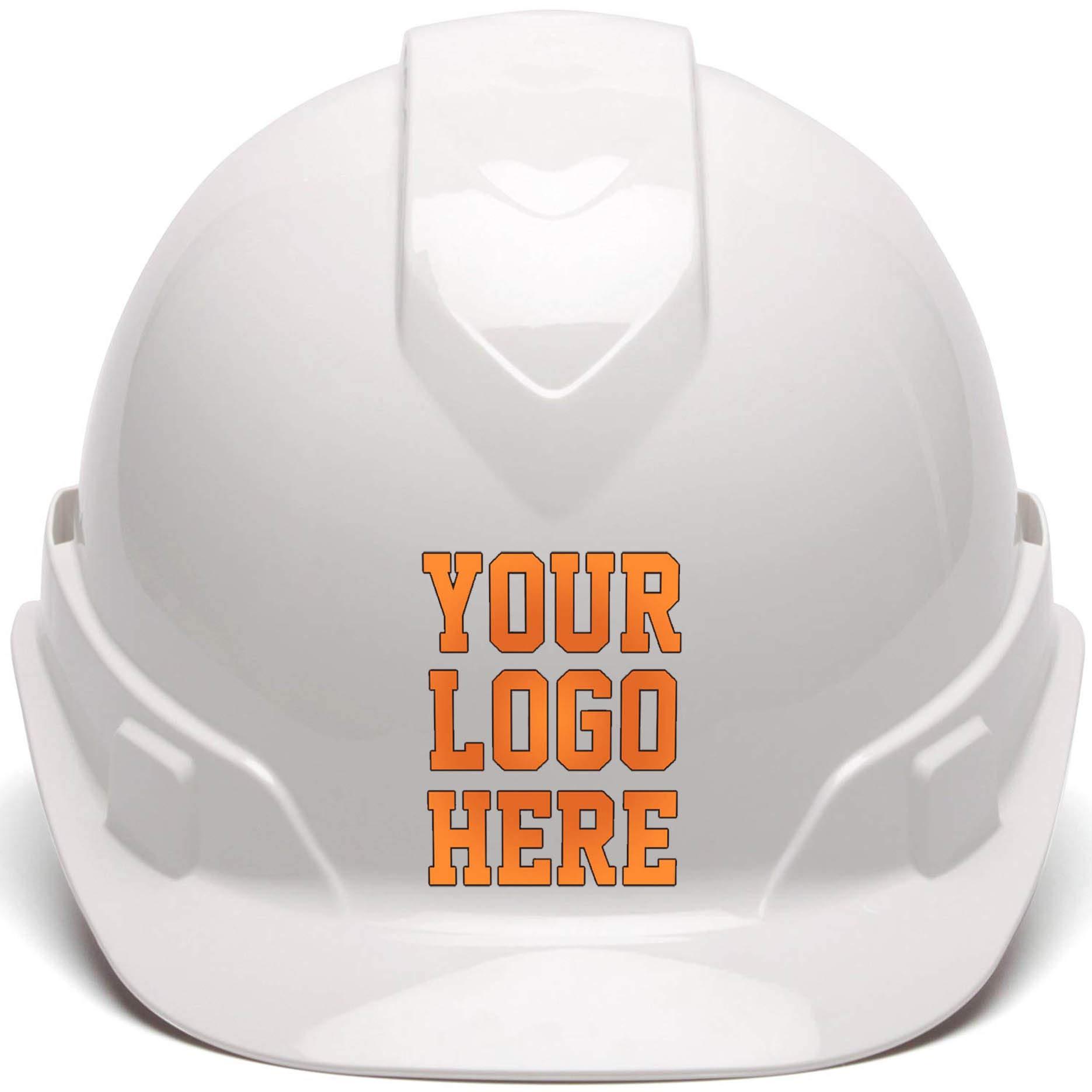 Custom Hard Hats - Personalized Logo - Pyramex Ridgeline Cap Style 4 Point Ratchet Suspension by RUGGEDIM