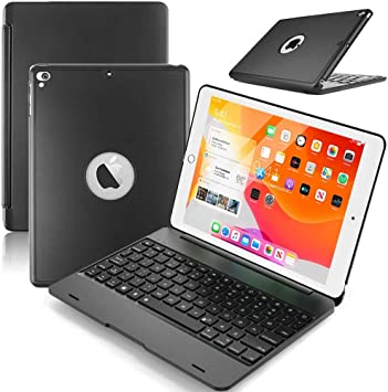 Teclado iPad 9.7 Funda, Funda con Teclado Para iPad 9.7 2018/iPad Air 2 Air 1 / ipad Pro 9.7 2017 con teclado inalámbrico Bluetooth, funda ultrafina ...