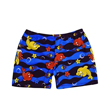 47414e11a8 Image Unavailable. Image not available for. Color: Toddler Baby Boys Swim  Shorts Cartoon Animal Swimming Trunk Beach Board Shorts (Blue ...