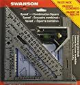 Swanson Tool S0101CB Speed Square Layout Tool with Blue Book and Combination Square