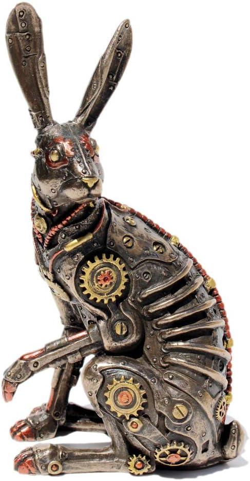 VERONESE Steampunk Rabbit Cold Cast Bronze Statue