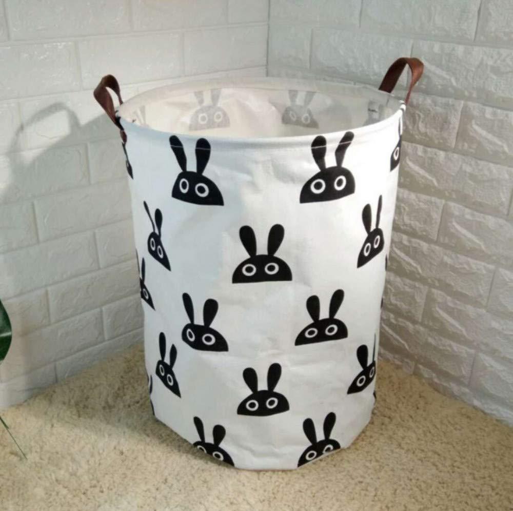 AIDEBIANLI Ablagekorb Schmutzige Tuch Cartoon Baby Kleidung Körbe Wasserdichte Ablagekorb Für Spielzeug Organzier Faltbare 40X50 cm