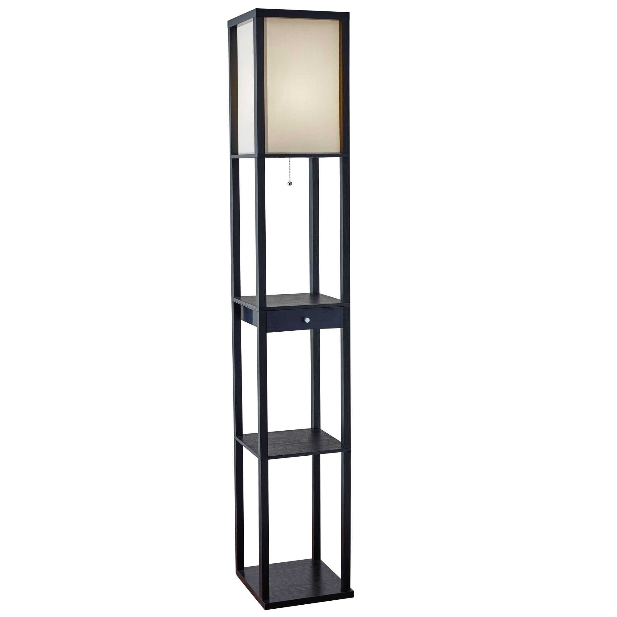 Etagere Home Lighting Floor Lamp with Drawer