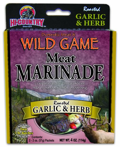 Hi-Country Snack Foods Domestic Meat and Wild Game 4 oz. Roasted Garlic & Herb Meat Marinade (2/2 oz. -