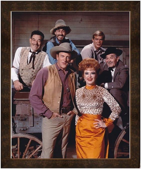 Amazon.com: Gatsbe Exchange Framed Print Gunsmoke Cast Marshal Dillon Kitty  Fester and Doc: Posters & Prints