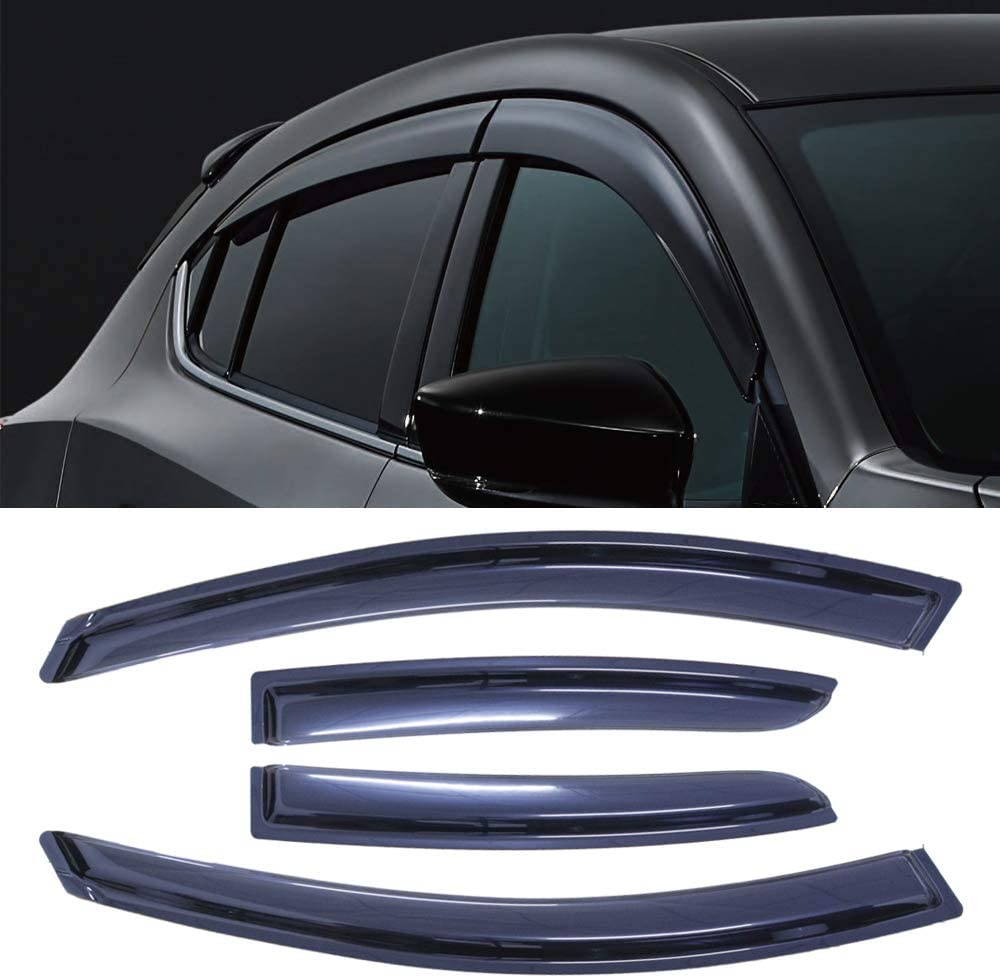 Made in USA Works with 2004-2008 Mazda 3 4 Door Stainless Steel Chrome Pillar Post Trim 6PC