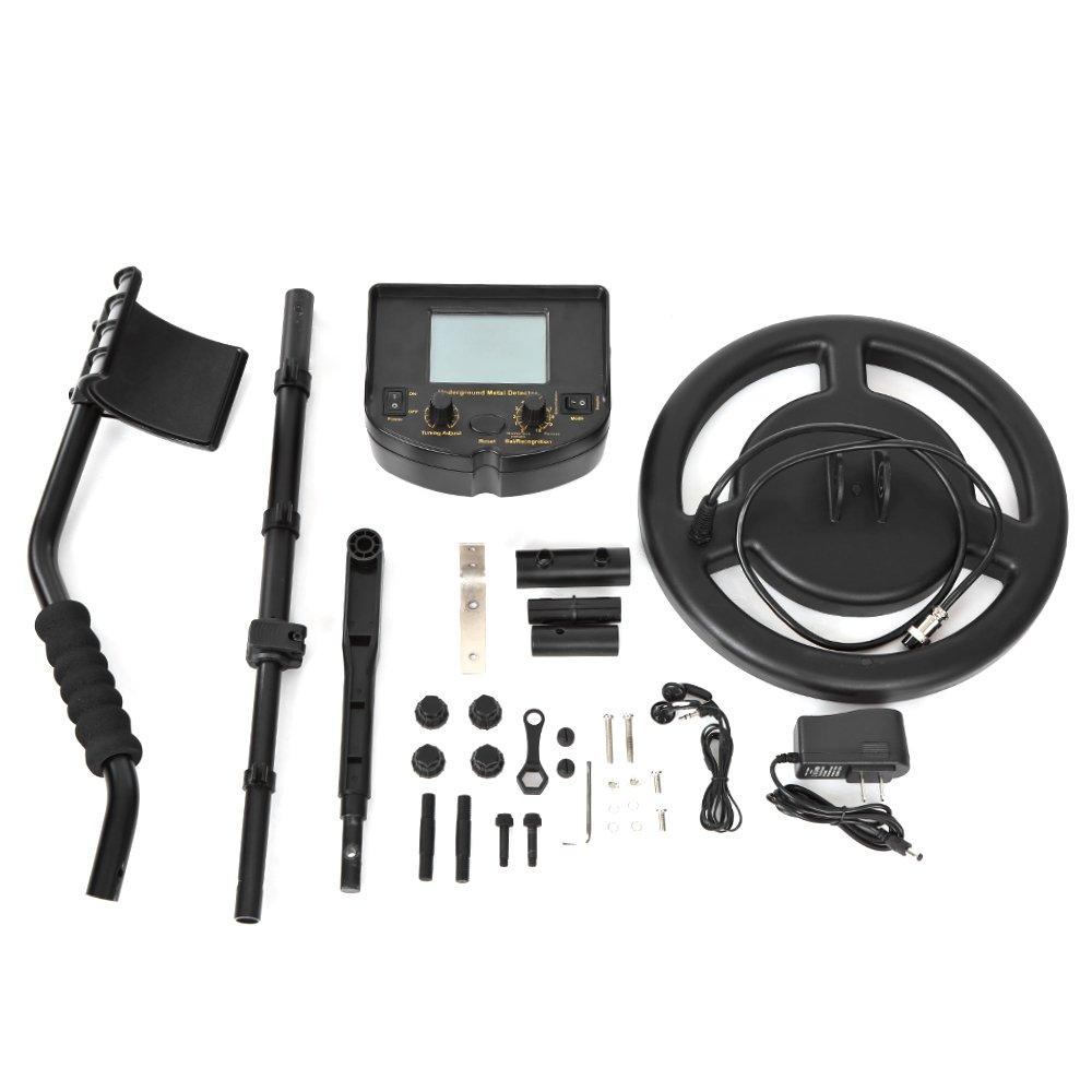 kkmoon 100 - 240 V alta sensibilidad Professional terreno Detector de metales con instalar accesorios, metal Such dispositivo Oro gräber del tesoro ...