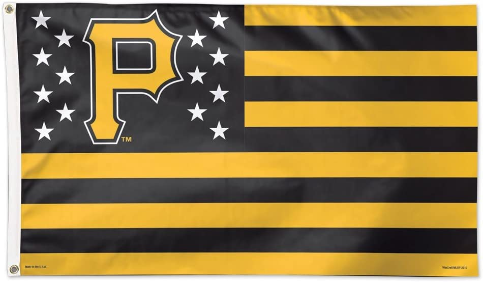 WinCraft MLB Pittsburgh Pirates 02737115 Deluxe Flag, 3' x 5'
