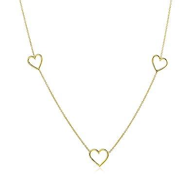 Goldkette damen herz  Miore Damen Gelbgold Herz Halskette 14KT (585) von 42 cm Goldkette ...