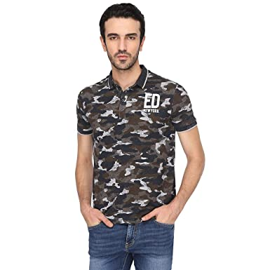 b2b4c27af84 Ed Hardy Men s Printed Slim Fit Polo  Amazon.in  Clothing   Accessories
