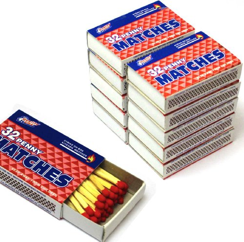 (100 Packs Matches 32 Count Strike on Box Kitchen Camping Fire Wholesale Lot)