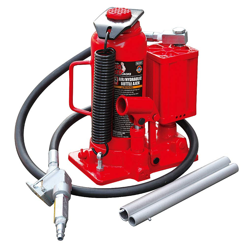 Torin Big Red Air Hydraulic Bottle Jack, 12 Ton Capacity by Torin