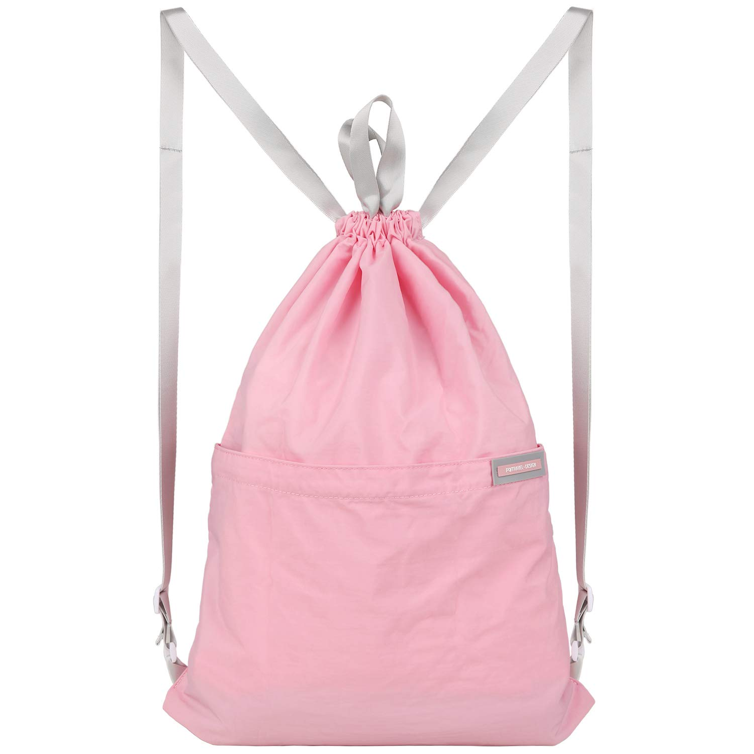 VanFn Drawstring Bags, Creative Design Gymsack, Unisex Sackpack, Students Casual Backpack, Sport's Equipment Bag, Unisex College Luggage & Travel Bags, School Style Backpacks for Teen (C - Pink)