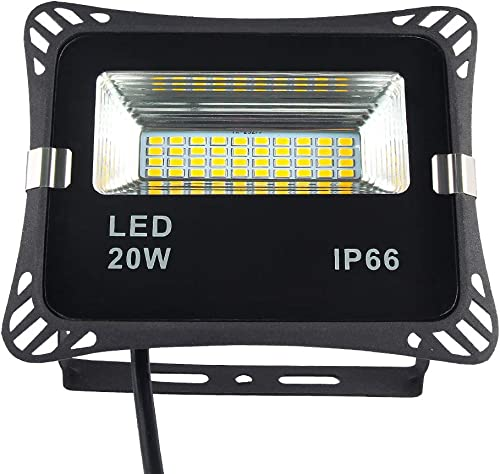 Dusk to Dawn Flood Light Auto On Off LED Sensor Security Light, IP66 Waterproof 1800LM 180 Beam Angle Outdoor Floodlight Street Night Light for Garden Yard Gate Aisle Daylight White 5000K, 20W