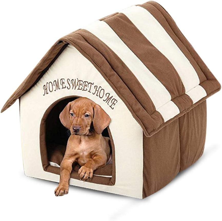 Azul Oscuro, S Cama Suave para Mascotas para Perros y Gatos 50/% de Descuento en la Cama para Mascotas peque/ña de la casa de Gato Caliente de Invierno m/óvil