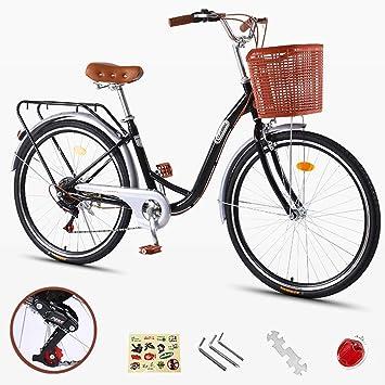 ZXLLO Bicicleta Liviana para Damas Y Niñas De 24 Pulgadas con La ...