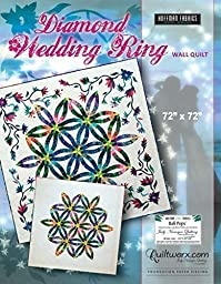 Diamond Wedding Ring Wall Quilt Foundation Paper Pieced 72in x 72in Quilt Pattern