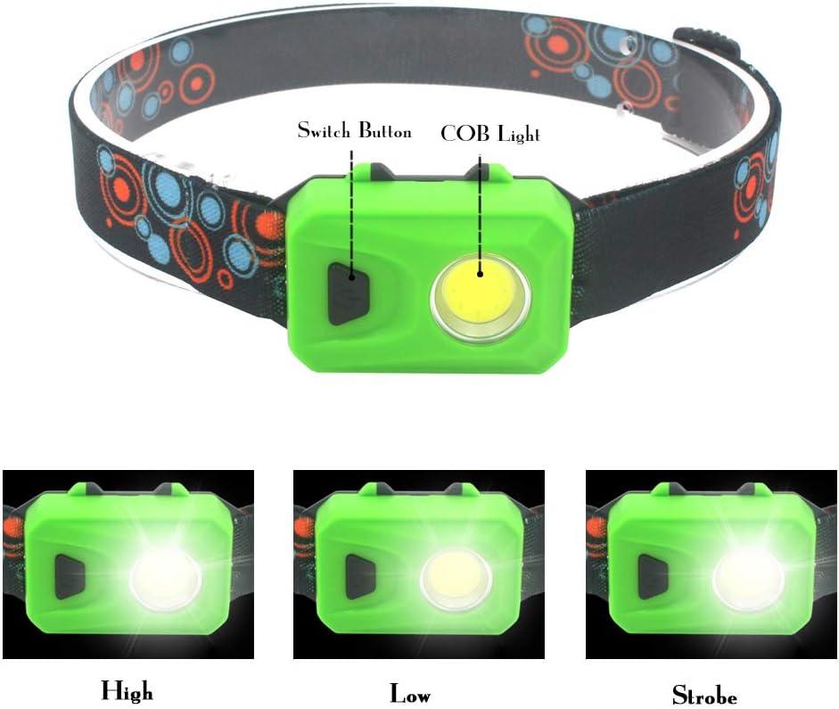 COB LED Headlamp Flashlight Running Headlamp with 3 Lighting Modes 4 Pack Lightweight Headlamp for Camping Reading Repairing