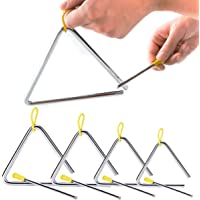 5 Pack Musical Triangle Instrument Set 4 5 6 7 8 inch - Buytra Music Triangle with Striker for Kids Children