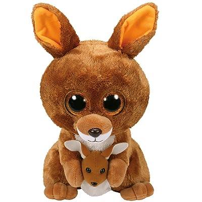 Ty Beanie Boos Kipper - Kangaroo Brown med: Toys & Games