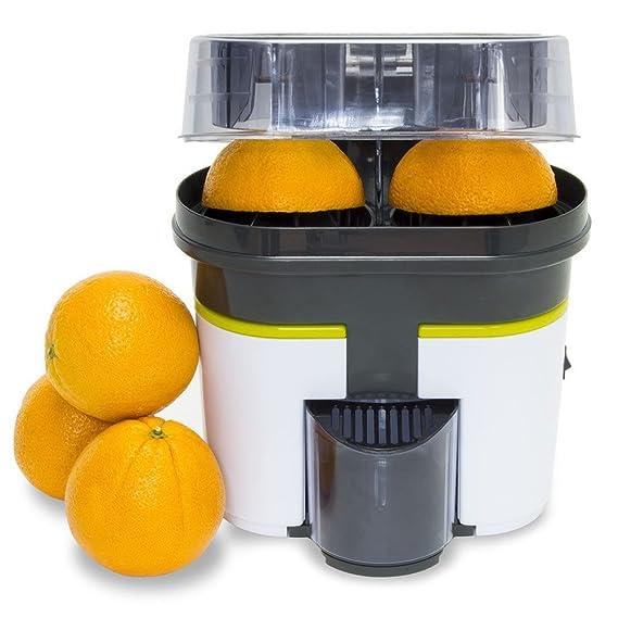 Cecotec Cecojuicer Zitrus Turbo Extracteur de Jus, pour Agrumes, Double Tête, Coupe-Fruit, 500ml, 90W, Lave-Vaisselle, Ventouses