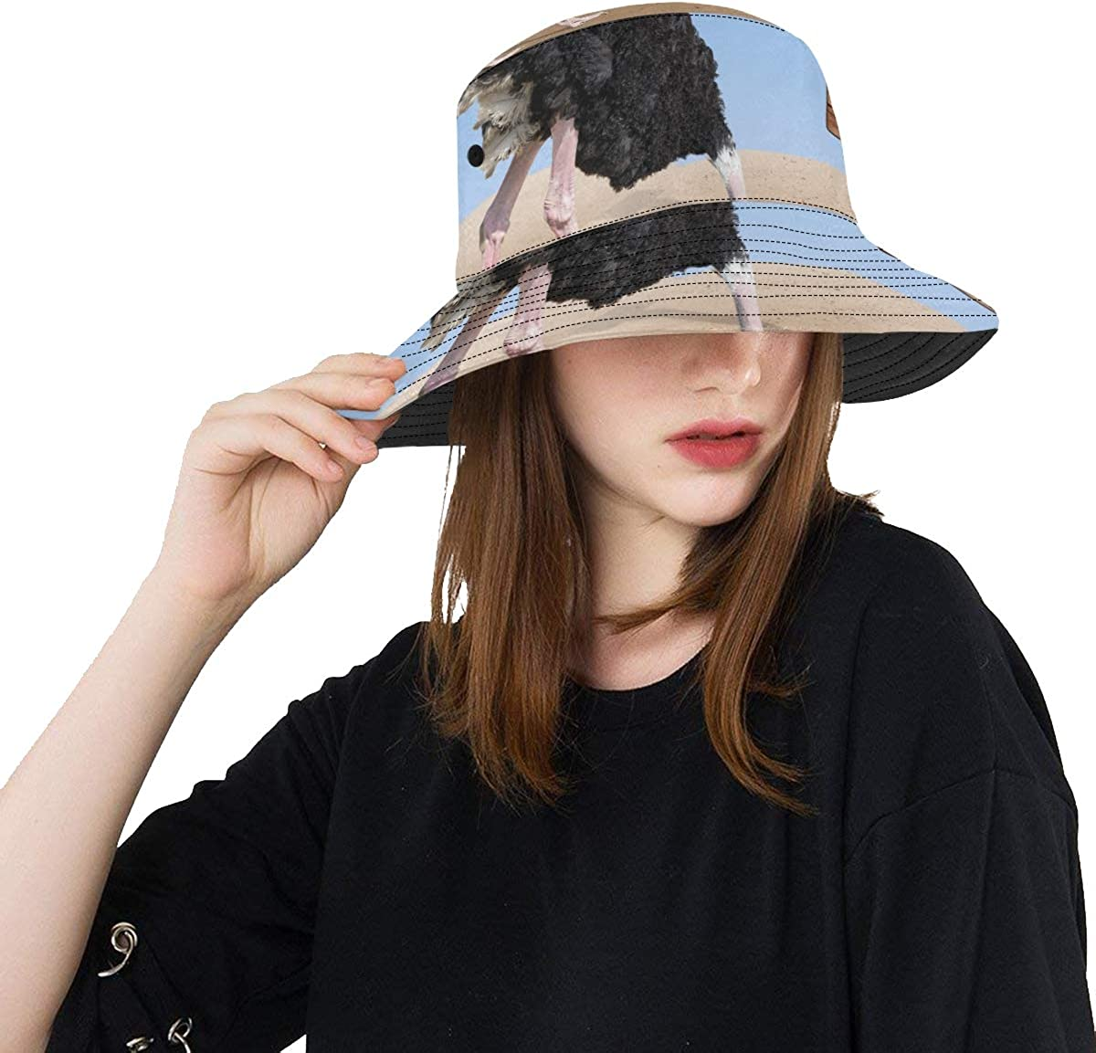 Lonely Fisherman Fishing at Sunset New Summer Unisex Cotton Fashion Fishing Sun Bucket Hats for Kid Teens Women and Men with Customize Top Packable Fisherman Cap for Outdoor Travel