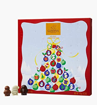 Godiva Advent Calendar.Amazon Com Godiva Advent Calendar 175g Health Personal Care