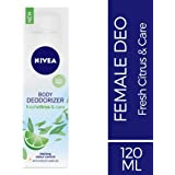 Nivea Body Deodorizer Fresh Citrus and Care Gas Free Spray for Women, 120ml