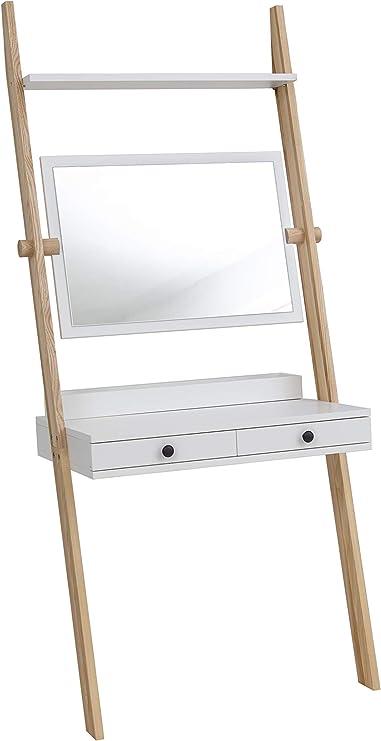 Ragaba Leno - Tocador con espejo (2 cajones, fácil montaje, 79 x 183 cm, madera FSC): Amazon.es: Hogar