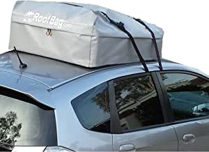 RoofBag Rooftop Cargo Carrier| 100% Waterproof-Premium Triple Seal for Maximum Protection| Made in USA|2 Yr Warranty | Fits ALL Cars: With Side Rails, Cross Bars or No Rack| Includes Heavy Duty Straps