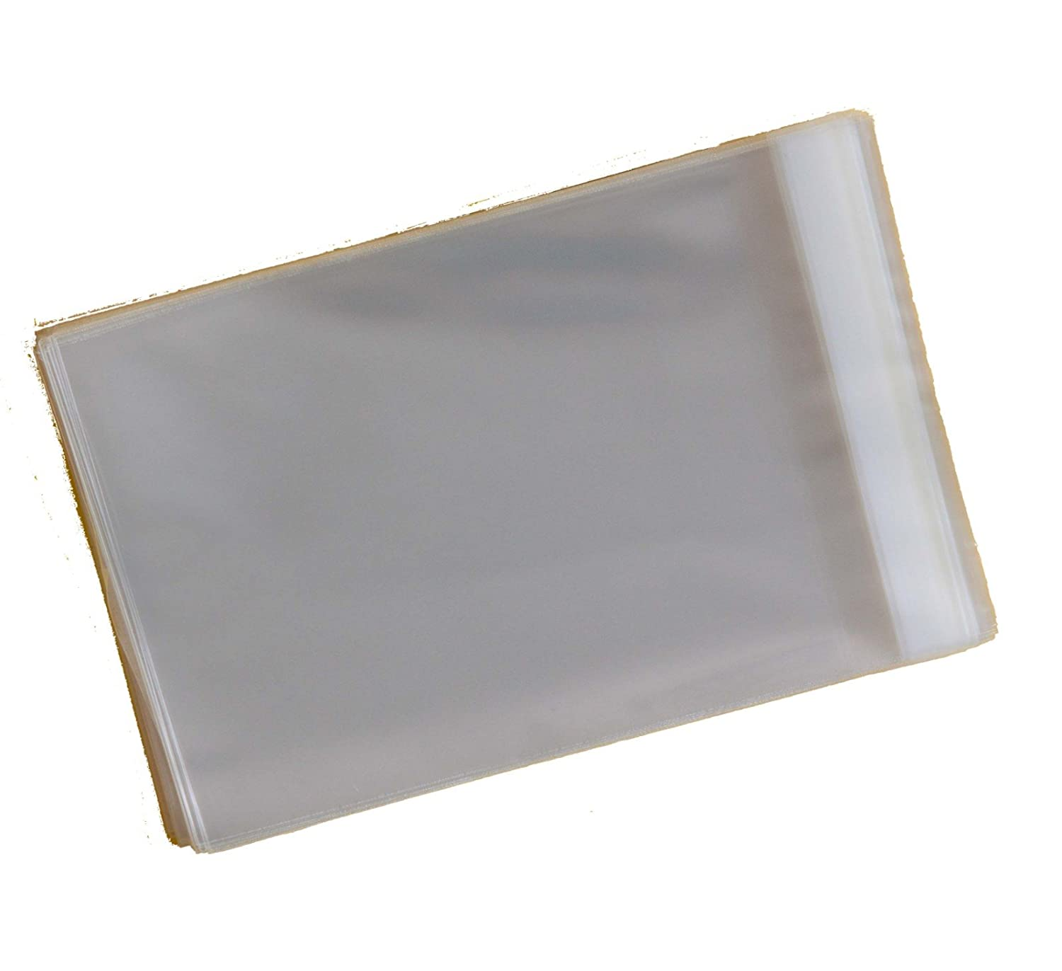 Pack of 100 - C6 - Cellophane Greeting Card Display Bags 30 Micron Self Seal - 120mm x 162mm + 30mm Flap Celloexpress Soho Paper Products