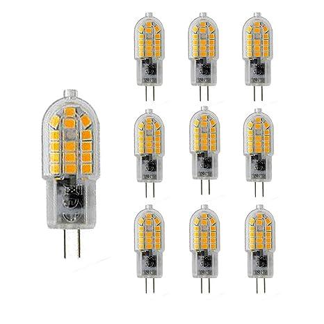 NUOXIN 10 Pack G4 3W Bombillas Led Blanco Cálido 3000K G4 SMD 2835 Lámparas LED Super
