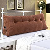 YXCSELL Filled Triangular Wedge Pillow Support Reading Backrest Cushion Upholstered Soft Headboard Home Lumbar Pad with Removable and Washable Cover for Twin Queen California King Bed Sofa Daybed