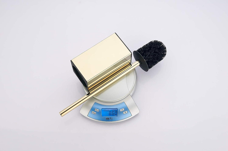 Toilet Brush Holder Stainless Steel 304 Standing Black Square Toilet Brush Holder for Bathroom Storage and Organization Black
