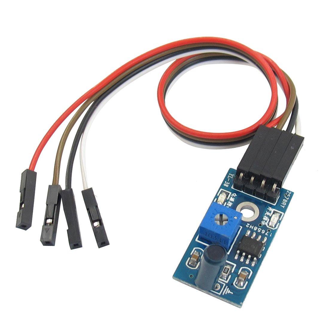 Uxcell 1-Channel 4 Pins Vibration Sensor Module for Intelligent Car 3.3-5V
