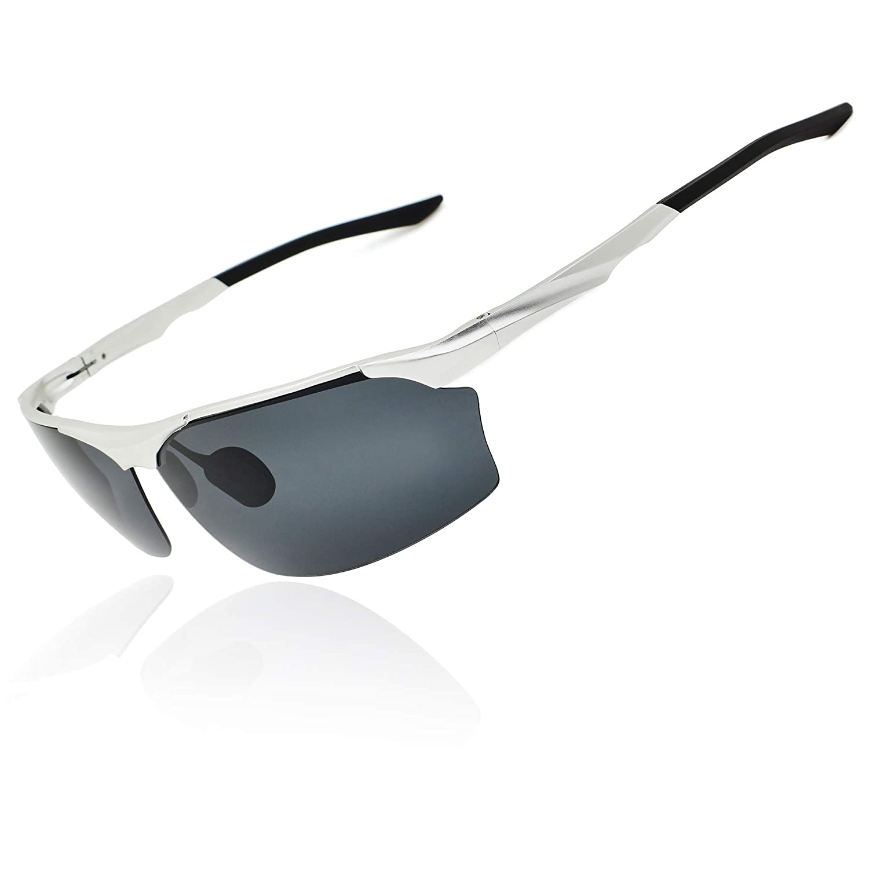 8d3e7d5a0b Ronsou Men Sport Al-Mg Alloy Frame Polarized Sunglasses Fashion Driving  eyewear silver frame gray lens  Amazon.ca  Jewelry