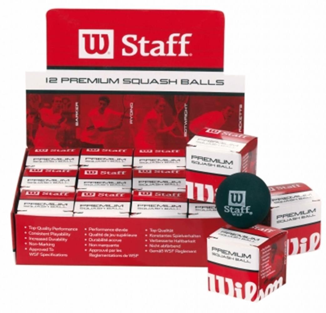WILSON STAFF RED DOT SQUASH BALL ONE DOZEN BOX