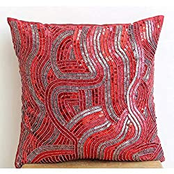 Sequins and Beaded Pillows Cover